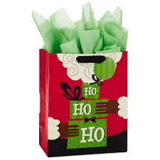 christmas gift bag american santa large christmas gift bag with tissue paper