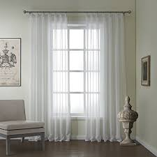 Custom Linen Curtains Iyuegou Modern Linen Jacquard Solid Sheer Double Pleated Top