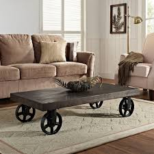 Vintage Coffee Table With Wheels Furniture Outstanding Classic Century Rustic Coffee Table
