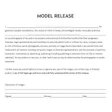 model release form template free documents a commercial photographer should including