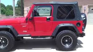 jeep wrangler red hd video 2002 jeep wrangler sport 4x4 used for sale red see www