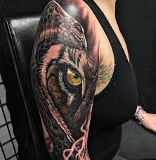 snake u0026 tiger fusion sleeve best tattoo design ideas