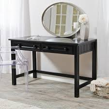 Black Furniture For Bedroom Furniture Cozy Round Stool Design Feats Trendy Wooden Vanity