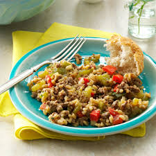 cajun thanksgiving cajun beef u0026 rice recipe taste of home