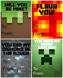 minecraft valentines cards free printable minecraft s day cards