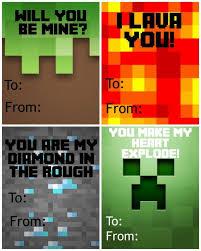 minecraft valentines free printable minecraft s day cards