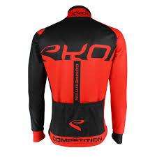 black cycling jacket ekoi competition9 black u0026 red thermal jacket
