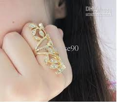 fashion long rings images Popular womens diamond ring engraved flowers long gold rings jpg
