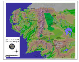 Up Map Maps Of Tolkien U0027s Universe
