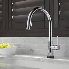 pull faucets kitchen modern kitchen faucets allmodern