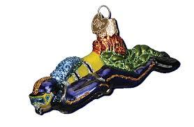 world ornaments scuba diver glass ornament 24146