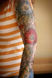 30 fabulous floral sleeve tattoos for women tattooblend
