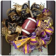 deco mesh new orleans saints who dat wreath with glittery fleur de