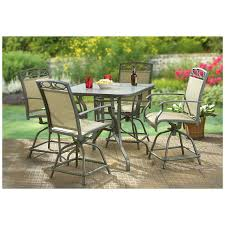 Patio Table Size Furniture Ideas Counter Height Patio Furniture With Swivel Patio