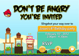 angry bird invitations templates ideas angry birds birthday