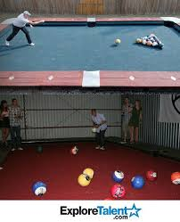 life size pool table life size pool table with bowling balls interesting pinterest
