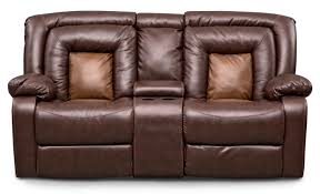 leather reclining sofa loveseat furniture loveseat with console to make a high style for your
