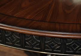 60 Inch Round Dining Room Table by 60 Inch Round Walnut Pedestal Dining Table W Black And Gold