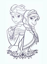 printable anna and elsa disney frozen coloring pages for kids