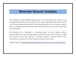 examples of bartending resumes bartending resume example newest