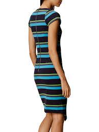 buy karen millen ponte stripe dress blue multi