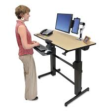 Sit Stand Office Desk by Workfit D Sit Stand Workstation By Ergotron Erg24271928
