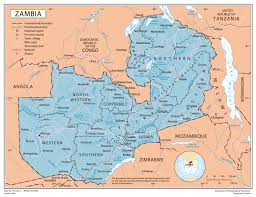 map of zambia political map of zambia zambia political map vidiani