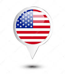 Map Pin United States Of America Flag Map Pin U2014 Stock Vector
