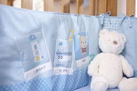 clair de lune ahoy cot cot bed quilt and bumper set 2 pieces