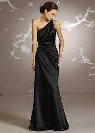 shoulder black bridesmaid dresses