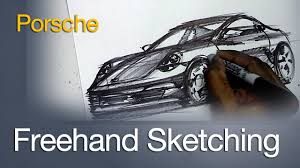 porsche front view freehand sketching a porsche front view youtube