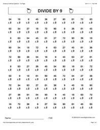grade 4 math worksheets vertical division