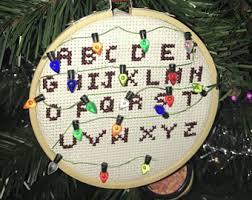 crossstitch ornament etsy