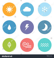 design style flat design style weather icons stock vector 141522661 shutterstock