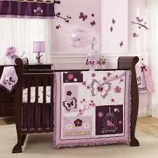 butterfly purple crib bedding sets wow factor for purple crib