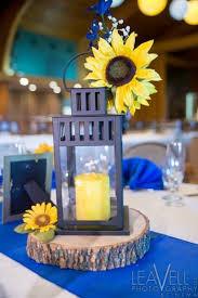Wedding Centerpiece Lantern by Lantern And Sunflower Wedding Centerpieces Love This