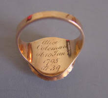 Ring With Initials Morning Glory Antiques U0026 Jewelry