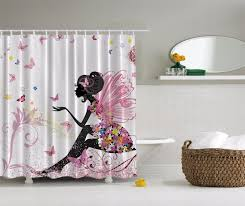 Pink And Gray Shower Curtain by Pink Butterfly Shower Curtain Extra Long 84 Inch Walmart Com