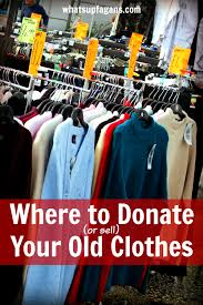 the best places to donate or sell your old clothes