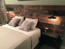 reclaimed wood headboard diy home design ideas