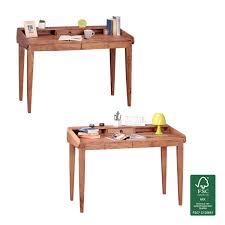 Design Schreibtisch Finebuy Schreibtisch Massiv Holz Sekretär 117cm Breit Mit 3