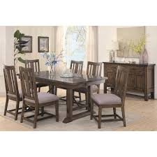 slate dining room table vintage slate gray and nickel brown dining table