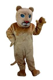 buy cougar cub mascot baby jungle cat costume mask us t0025 from