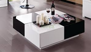 Storage White Lacquer Coffee Table Cole Papers Design Modern