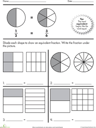 equivalent fractions practice worksheet worksheets