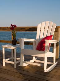 Recycled Plastic Furniture South Beach Recycled Plastic Adirondack Rocking Chair