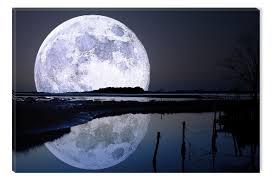 full wall art shenra com full moon water reflection startonight