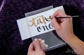 diy gilded acrylic signs for weddings and events buy acrylic print