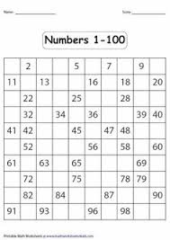 this is a 1 page worksheet that allows students to trace numbers 1