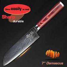 vg10 kitchen knives haoye 7 inch santoku knives 73 layers damascus kitchen knife